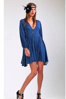 Rachel Pally Claudia Print Dress in Midnight/Granite $220 thestylecure.com