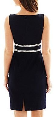 JCPenney 9 & Co.® Waist-Detail Sheath Dress - Petite