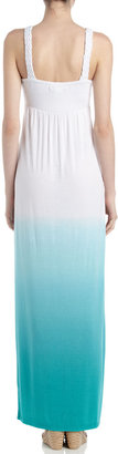 Neiman Marcus Braided Ombre Maxi Dress, Exotic Green