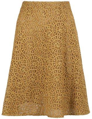 Carven brocade print skirt