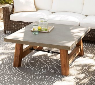 Pottery Barn Abbott Square Coffee Table, Brown