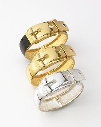 CC Skye Wide Buckle Bracelet - Black