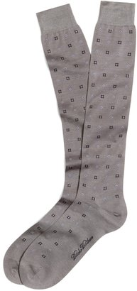 Brooks Brothers Alternating Square and Diamond Over-the-Calf Socks