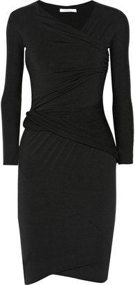 Carven Draped modal-blend jersey dress
