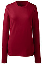 Lands' End Women's Long Sleeve Fem Fit Essential Tee-White