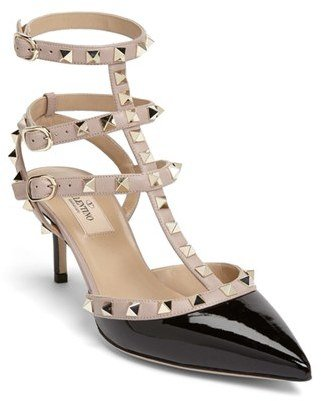 Women's Valentino Rockstud Pointy Toe Pump $995 thestylecure.com