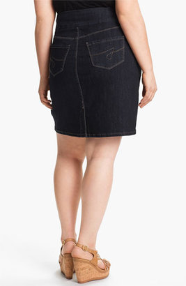 Jag Jeans 'Maddock' Denim Skirt (Plus Size) (Online Only) Indigo 24W