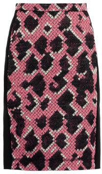 Balenciaga Jacquard snake pencil skirt