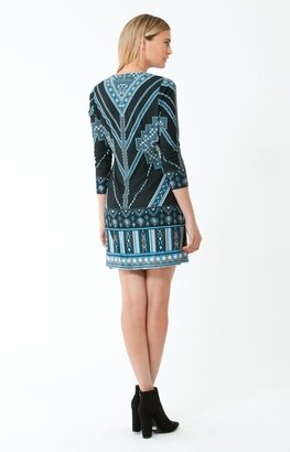 Hale Bob Gloria Beaded Dress In Black