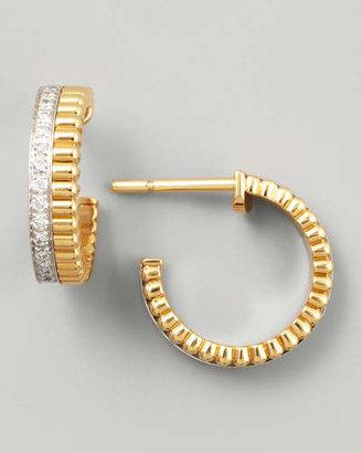 Boucheron Quatre Follies 18k Yellow/White Gold Diamond Earrings