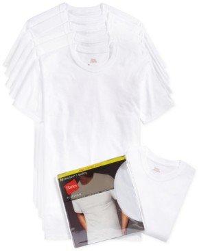 Hanes men's crew-neck Undershirts 5-pack + 1 extra bonus Undershirt