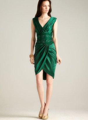 Tadashi Shoji Tadashi Beaded lace Surplice Dress