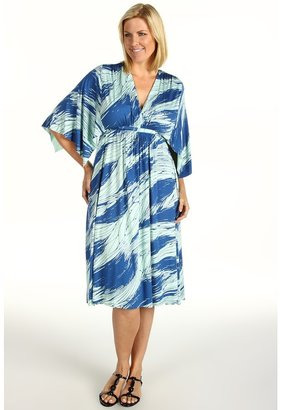 Rachel Pally Plus - Plus Size Knee Length Caftan (Mosaic Monsoon) - Apparel