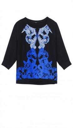 Tibi Rococo 3/4 Sleeve Sweatshirt