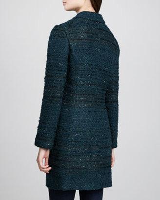 Tory Burch Keegan Long Tweed Jacket