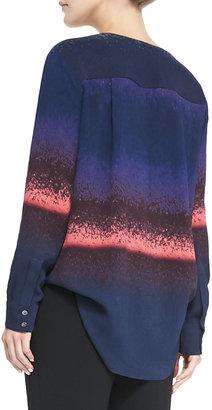 Derek Lam 10 Crosby Silk Wrap-Front Blouse