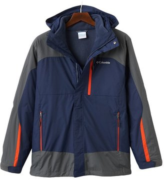 Columbia colorblock space trax interchange 3-in-1 hooded jacket