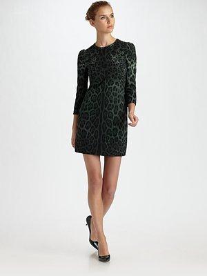 Dolce & Gabbana Three-Quarter Sleeve Leopard Dress