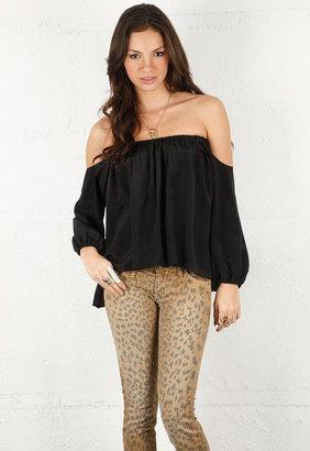 Boulee Audrey Long Sleeve Top in Black -