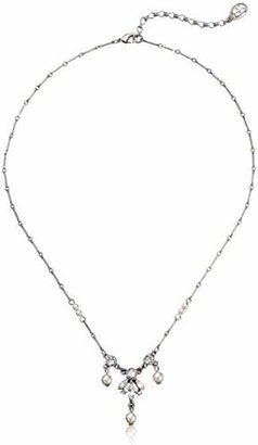 Ben-Amun Jewelry Pearl and Crystal Drop Delicate Pendant Necklace