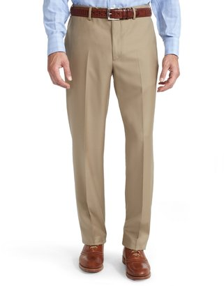 Brooks Brothers Fitzgerald Fit Tan Solid Gabardine 1818 Suit