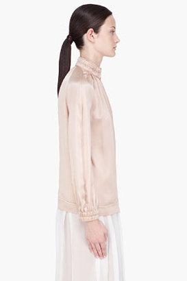 Chloé Dusty Rose Zip Up Silk Blouse