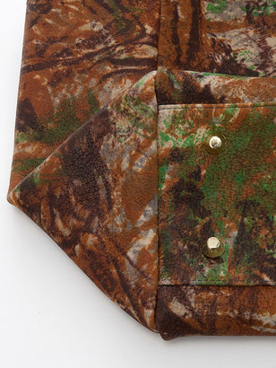 American Apparel Brown Patent Camouflage Leather Envelope Case