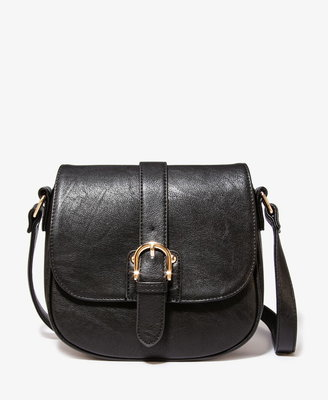 Forever 21 Buckled Faux Leather Crossbody