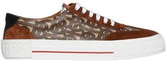 Burberry Suede Detail Monogram Stripe Sneakers