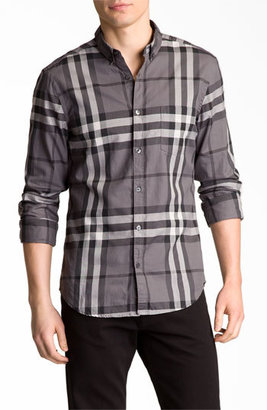 Burberry Brit 'Niall' Trim Fit Check Sport Shirt