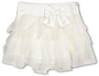 Biscotti Frilly Netted Ruffle Skirt (Little Kids) (Ivory) - Apparel