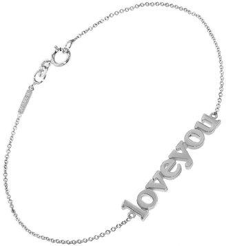 Jennifer Meyer Love You Bracelet - White Gold