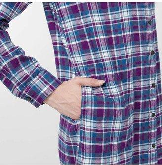 Uniqlo Women Flannel Check Long Sleeve Dress