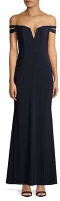 Xscape Evenings Strappy Off-The-Shoulder Gown