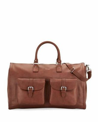 hook + Albert Leather Carry-On Garment Weekender Bag, Brown