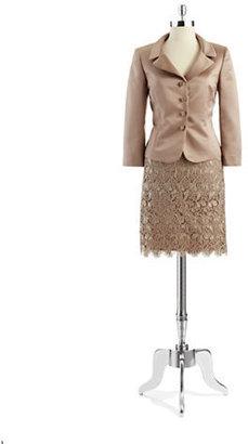 Tahari ARTHUR S. LEVINE Two-Piece Jacket and Lace Skirt Set