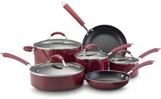 Farberware 12-pc. Nonstick Millenium Aluminum Cookware Set, Red