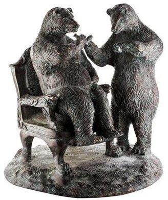 Maitland Smith Brass Two-Bear Figurine