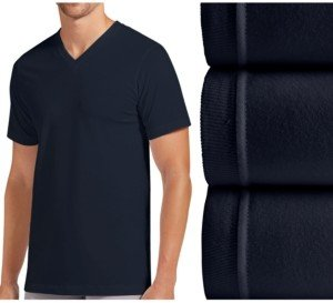 Jockey men's classic collection crew-neck tagless Undershirt 3-pack with staynew technology
