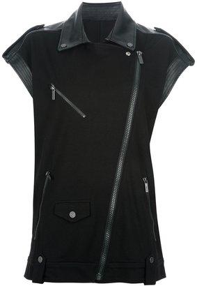 Karl Karl Lagerfeld biker waistcoat