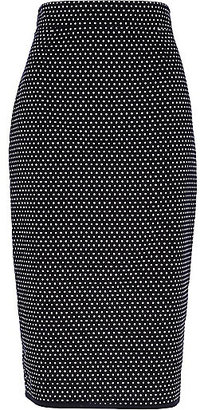 River Island Womens Black polka dot pencil skirt