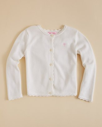 Lilly Pulitzer Lilly Pulizter Girls' Rory Scalloped Cardigan - Sizes M-XL