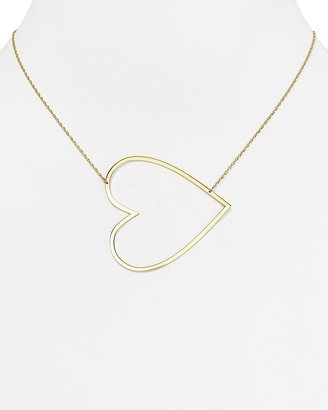 "Jennifer Zeuner Marissa Large Heart Necklace, 18"" $198 thestylecure.com"