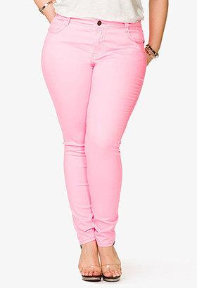 Forever 21 Neon Skinny Jeans