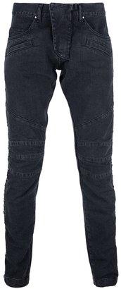 Balmain Pierre slim lace-up jeans