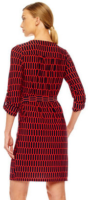MICHAEL Michael Kors Printed Lace-Up Dress