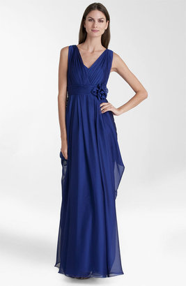 JS Collections Rosette Detail Chiffon Gown