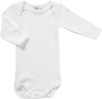 Petit Bateau L/S Bodysuit - White-1 Month