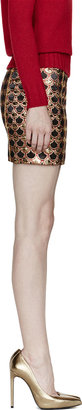 Balmain Gold Embroidered Jacquard Scale Skirt