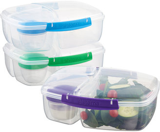 Container Store 2.1 qt. Lunch Triple Split Assorted Clips
